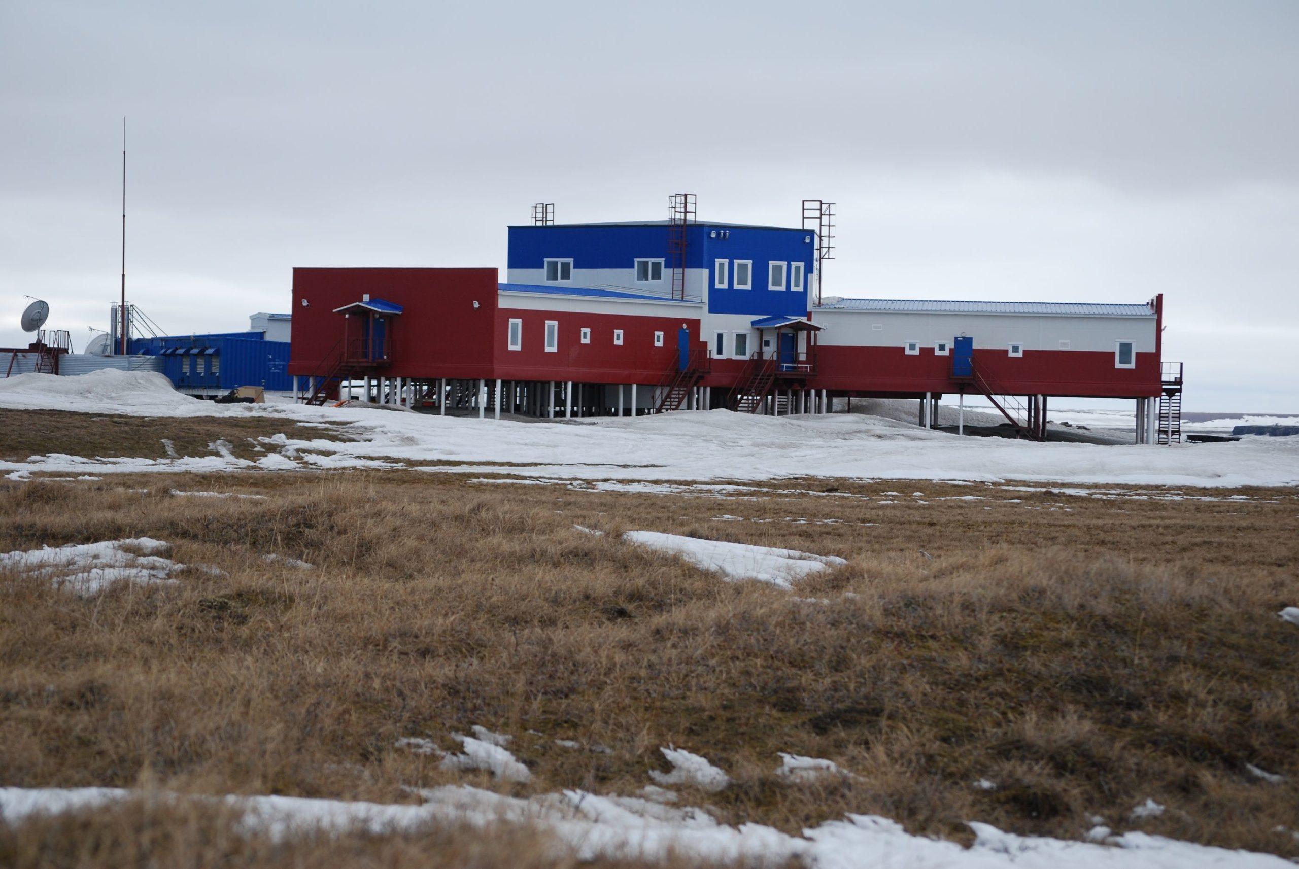 Die neue russische Forschungsstation auf Samoylov.